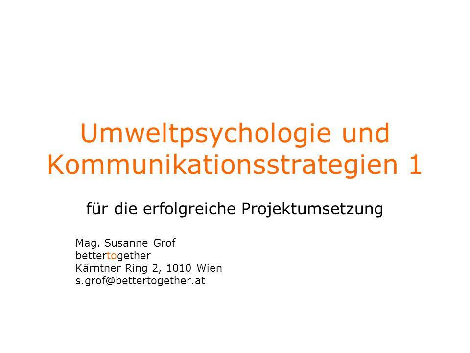 Umweltpsychologie und Kommunikationsstrategien 1