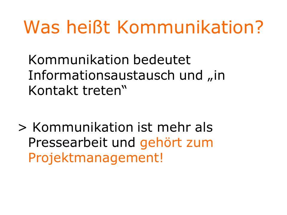 Was heißt Kommunikation