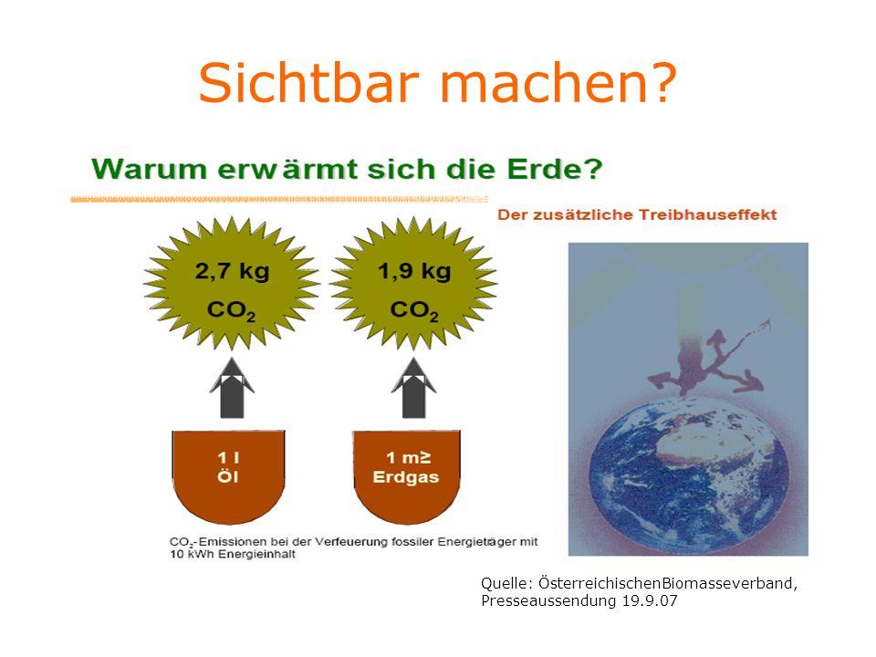 Sichtbar machen Quelle: ÖsterreichischenBiomasseverband, Presseaussendung 19.9.07