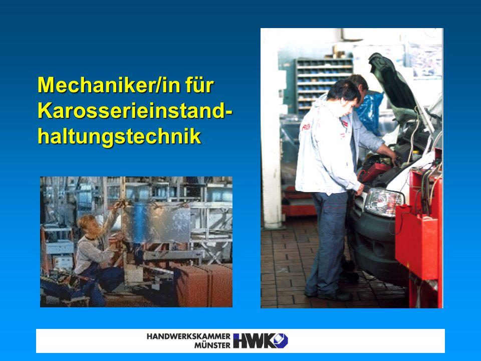 Mechaniker/in für Karosserieinstand-haltungstechnik