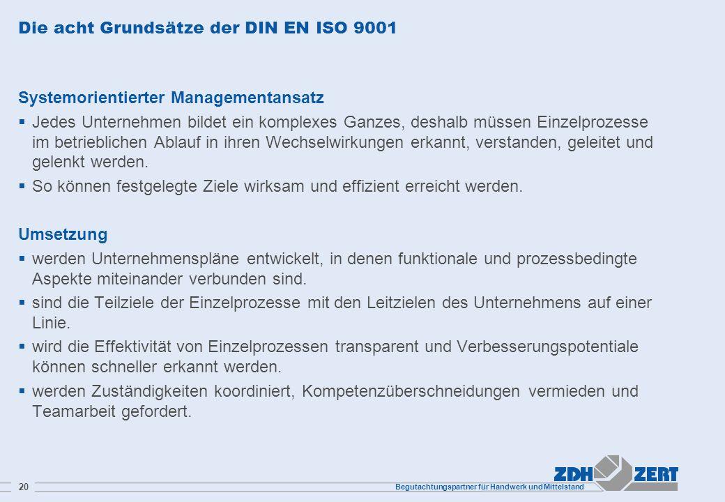 Die acht Grundsätze der DIN EN ISO 9001