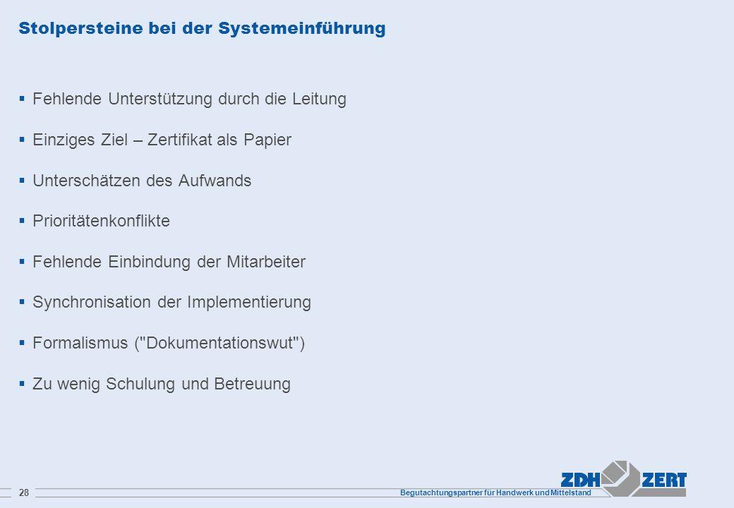 Stolpersteine bei der Systemeinführung