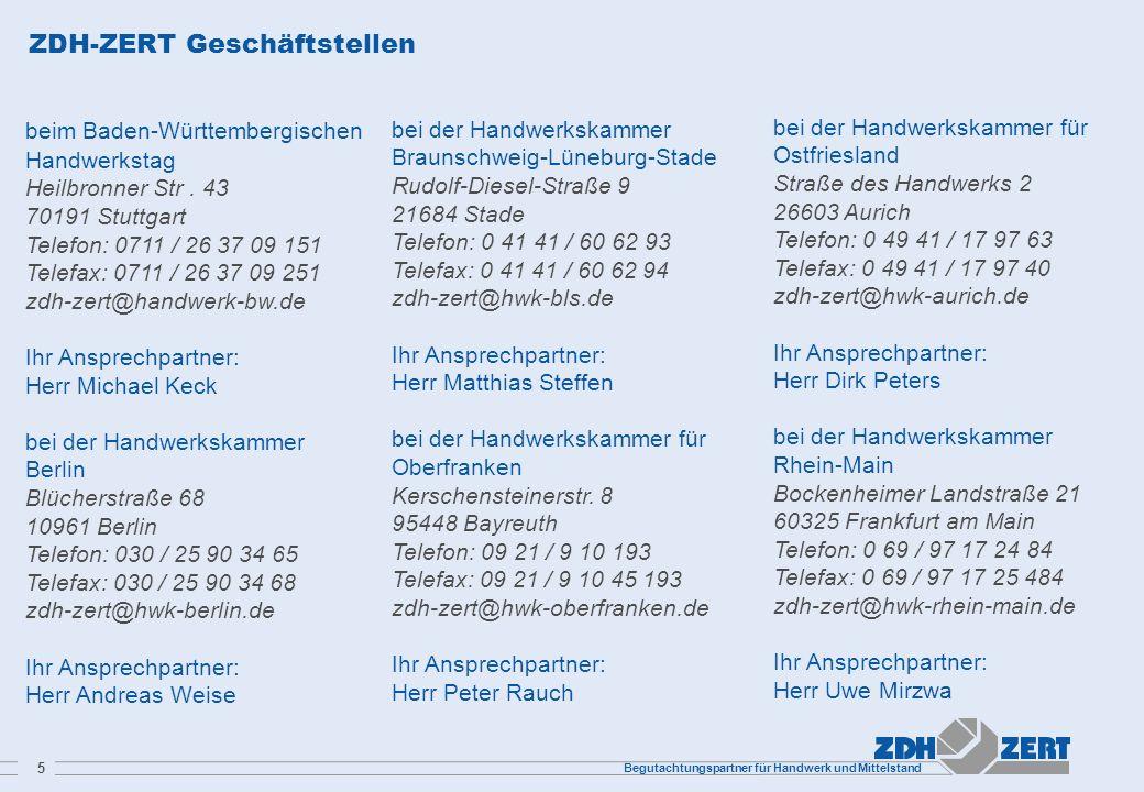 ZDH-ZERT Geschäftstellen