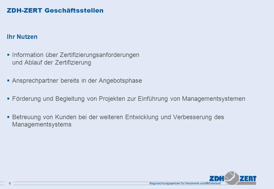 ZDH-ZERT Geschäftsstellen