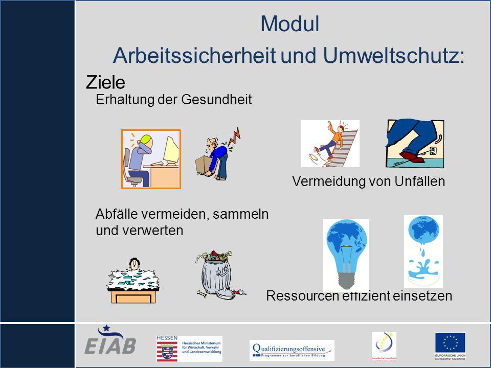 Modul Arbeitssicherheit und Umweltschutz: