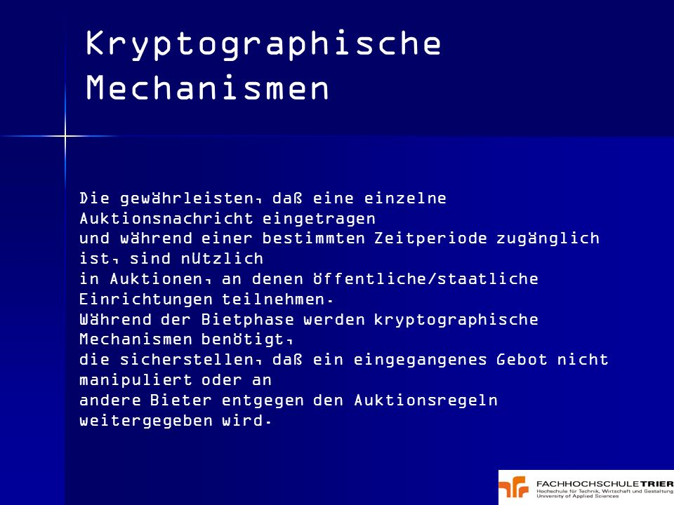 Kryptographische Mechanismen