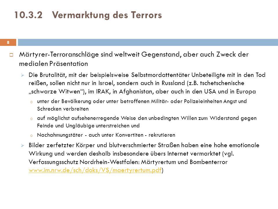 10.3.2 Vermarktung des Terrors