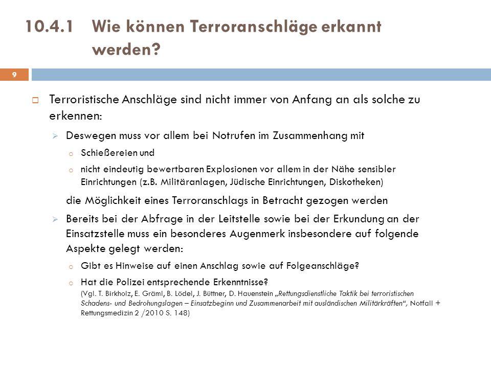 10.4.1 Wie können Terroranschläge erkannt werden