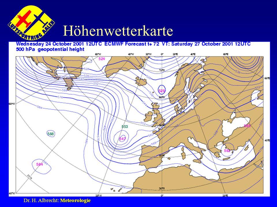 Höhenwetterkarte Dr. H. Albrecht: Meteorologie