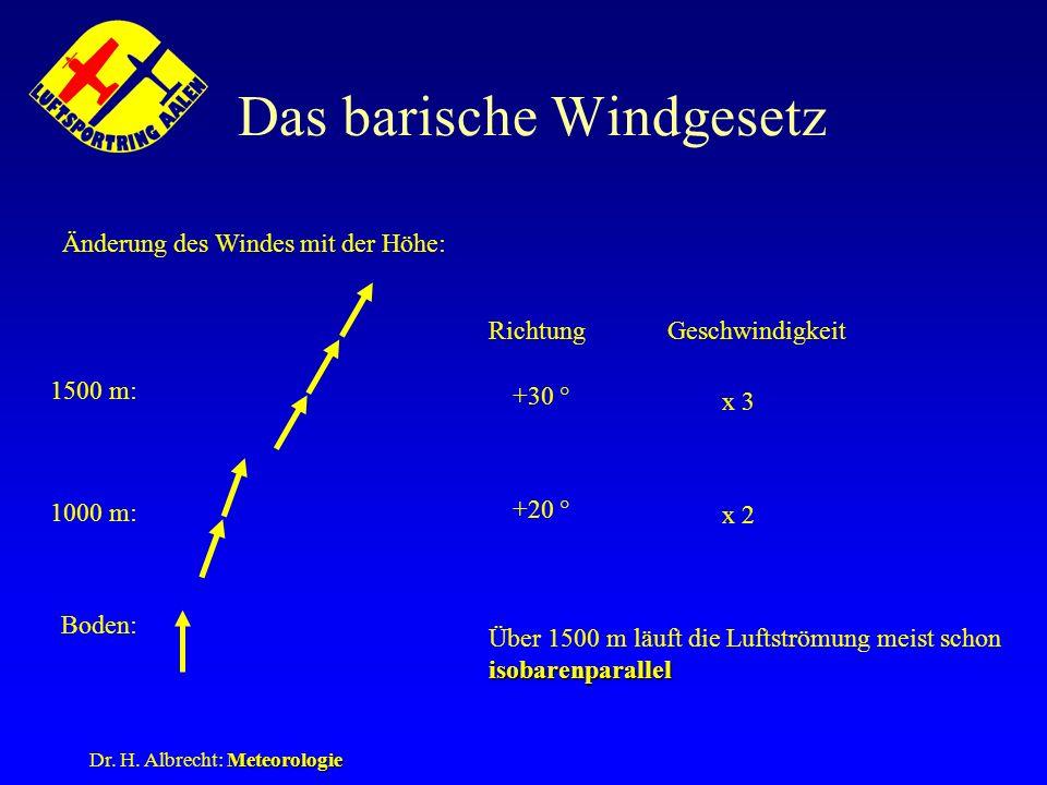 Das barische Windgesetz