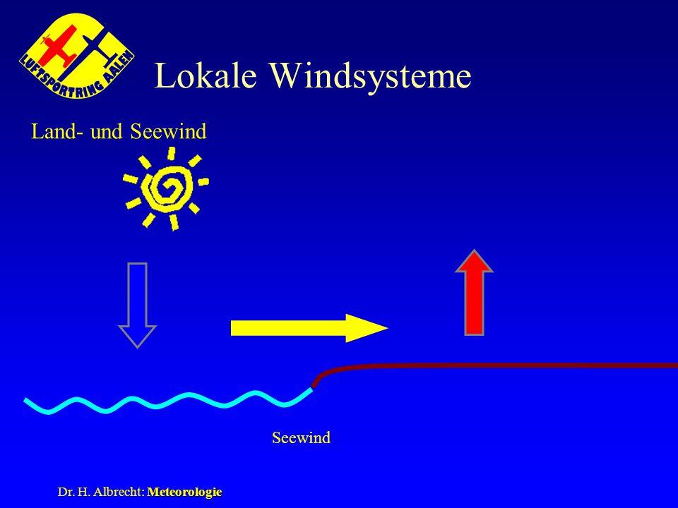 Lokale Windsysteme Land- und Seewind Seewind