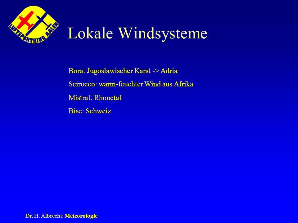 Lokale Windsysteme Bora: Jugoslawischer Karst -> Adria