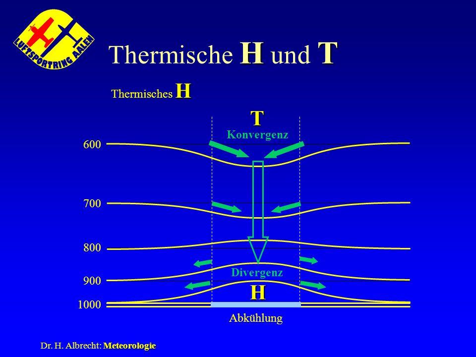 Thermische H und T T H Thermisches H Konvergenz 600 700 800 Divergenz