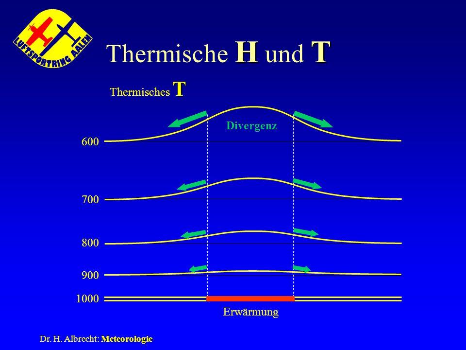 Thermische H und T Thermisches T Divergenz 600 700 800 900 1000