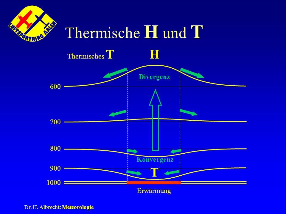 Thermische H und T H T Thermisches T Divergenz 600 700 800 Konvergenz