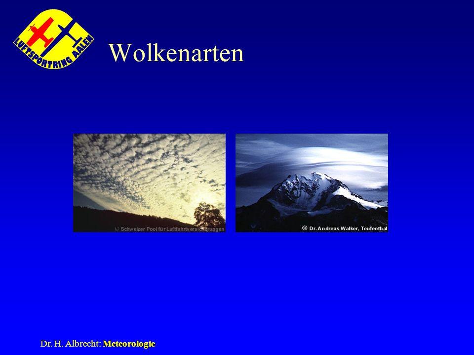 Wolkenarten As, Ac lent Dr. H. Albrecht: Meteorologie