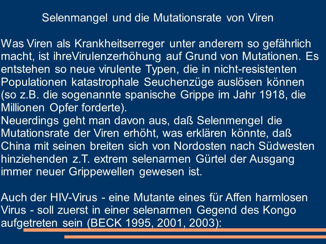 Selenmangel und die Mutationsrate von Viren
