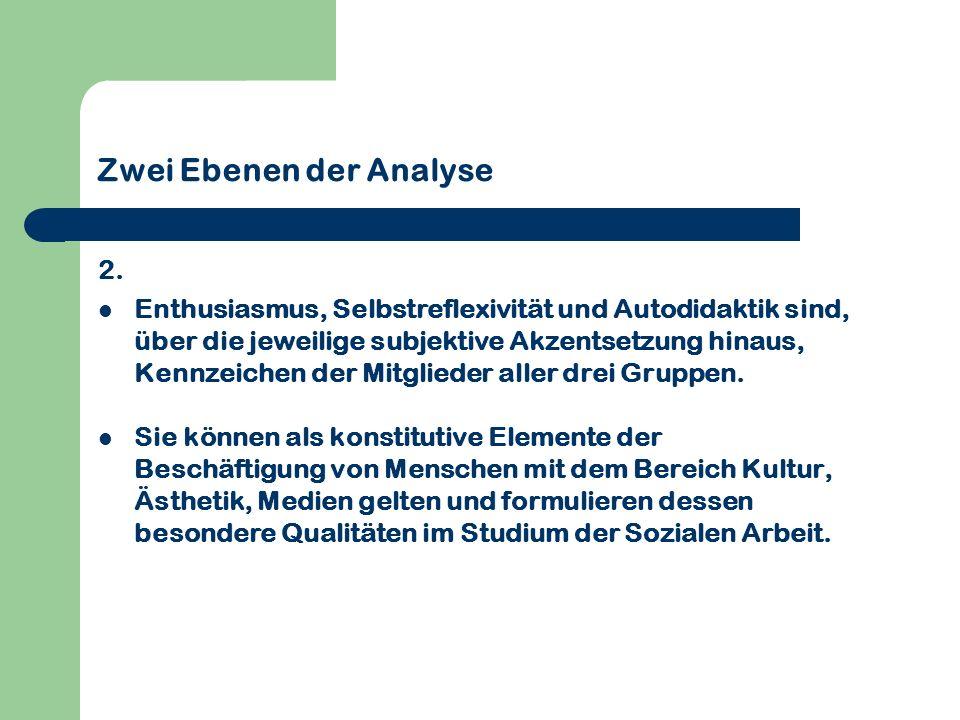 Zwei Ebenen der Analyse