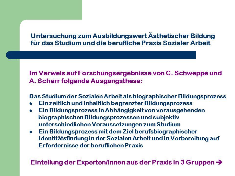 Im Verweis auf Forschungsergebnisse von C. Schweppe und