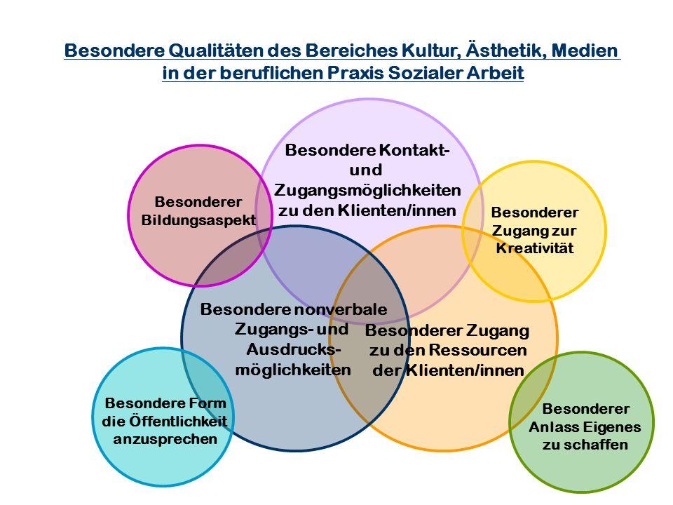 Besondere Qualitäten des Bereiches Kultur, Ästhetik, Medien