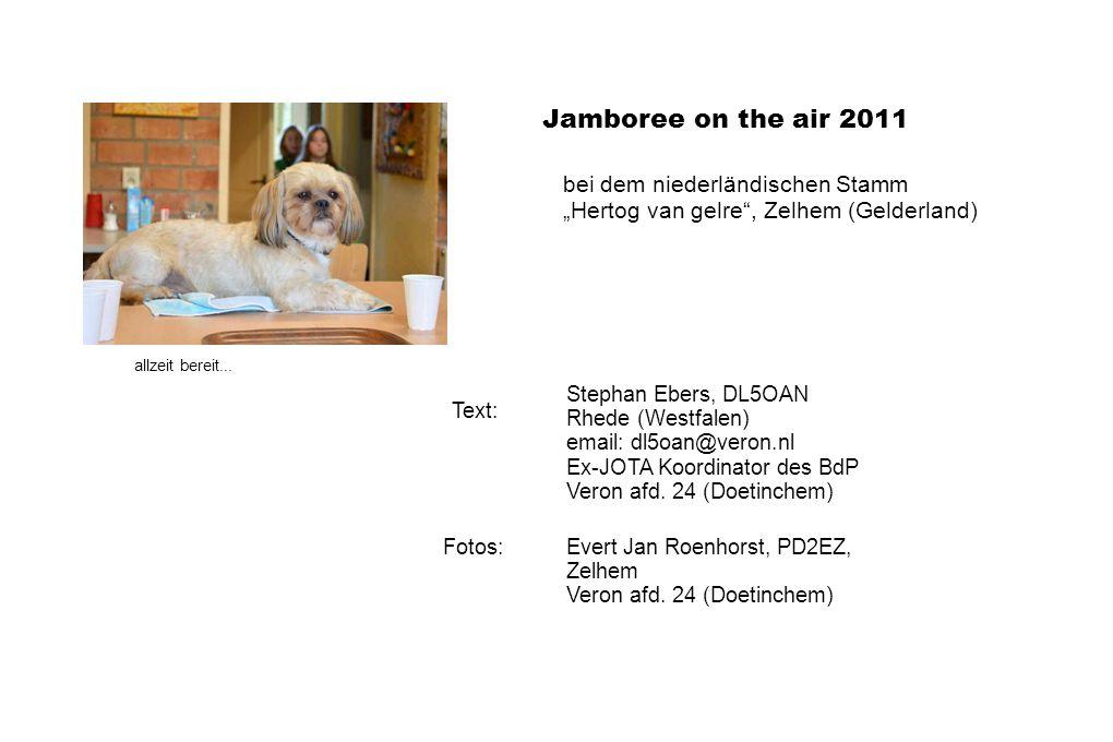 Jamboree on the air 2011 bei dem niederländischen Stamm