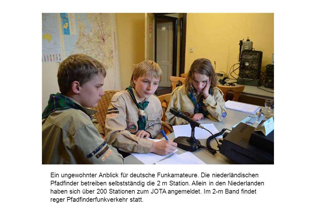 Ein ungewohnter Anblick für deutsche Funkamateure