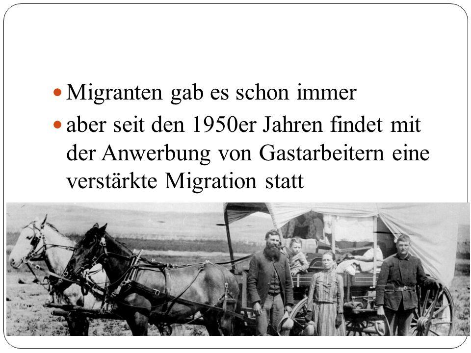 Migranten gab es schon immer