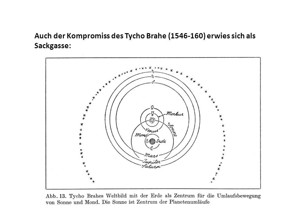 Auch der Kompromiss des Tycho Brahe (1546-160) erwies sich als Sackgasse: