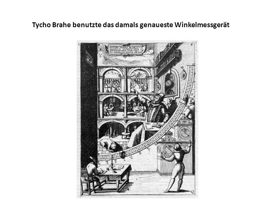 Tycho Brahe benutzte das damals genaueste Winkelmessgerät