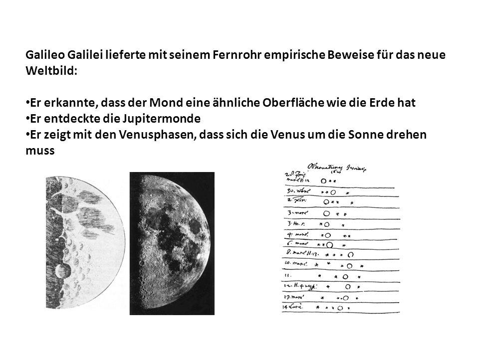 Galileo Galilei lieferte mit seinem Fernrohr empirische Beweise für das neue Weltbild: