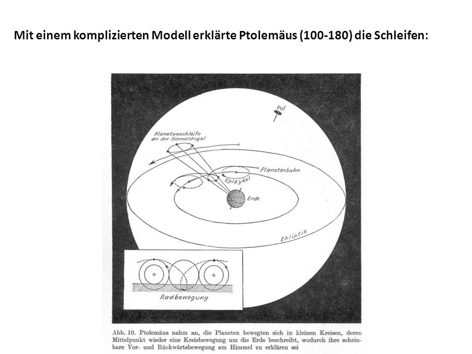 Mit einem komplizierten Modell erklärte Ptolemäus (100-180) die Schleifen: