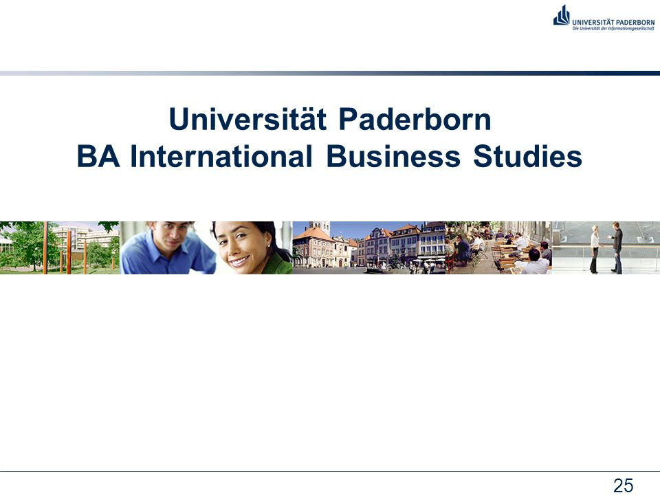 Universität Paderborn BA International Business Studies