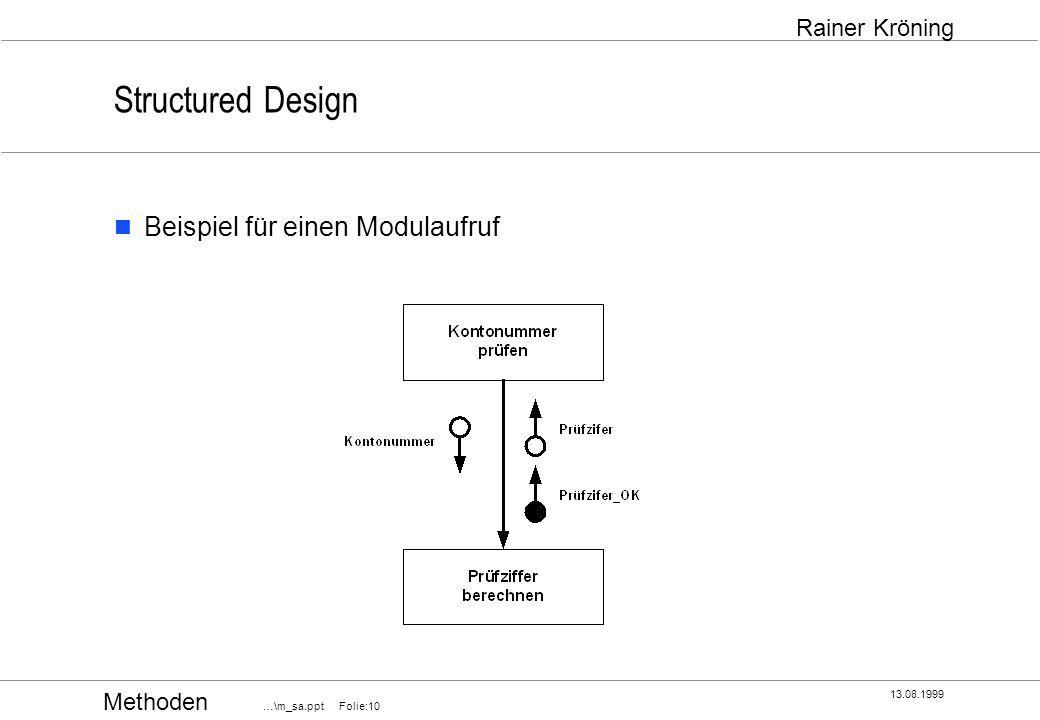 Structured Design Beispiel für einen Modulaufruf