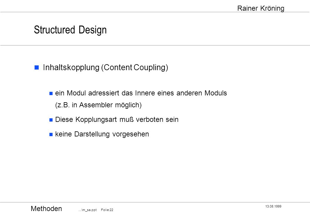 Structured Design Inhaltskopplung (Content Coupling)