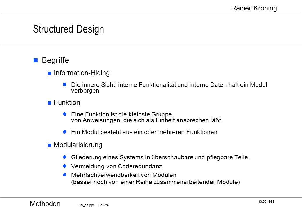 Structured Design Begriffe Information-Hiding Funktion Modularisierung