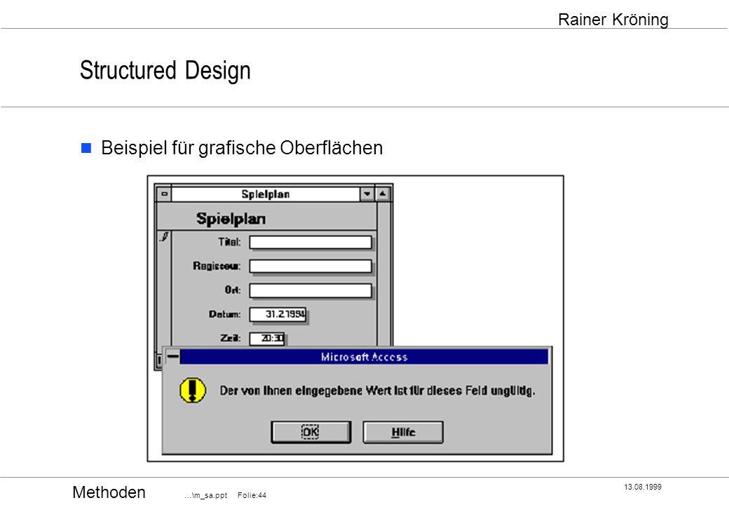 Structured Design Beispiel für grafische Oberflächen