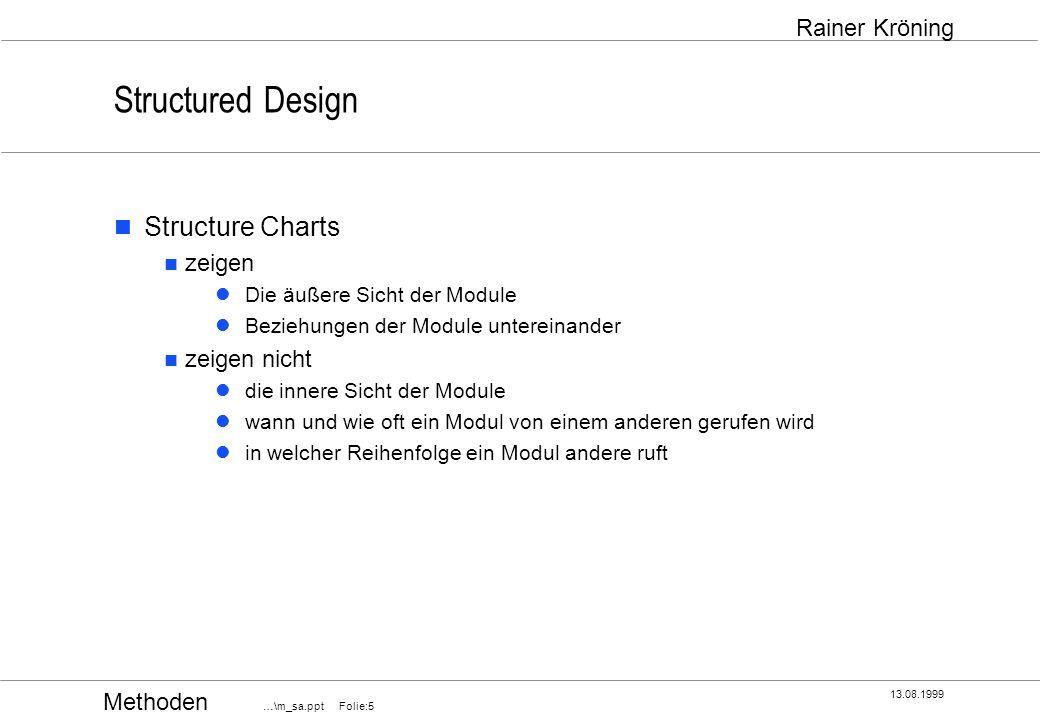 Structured Design Structure Charts zeigen zeigen nicht