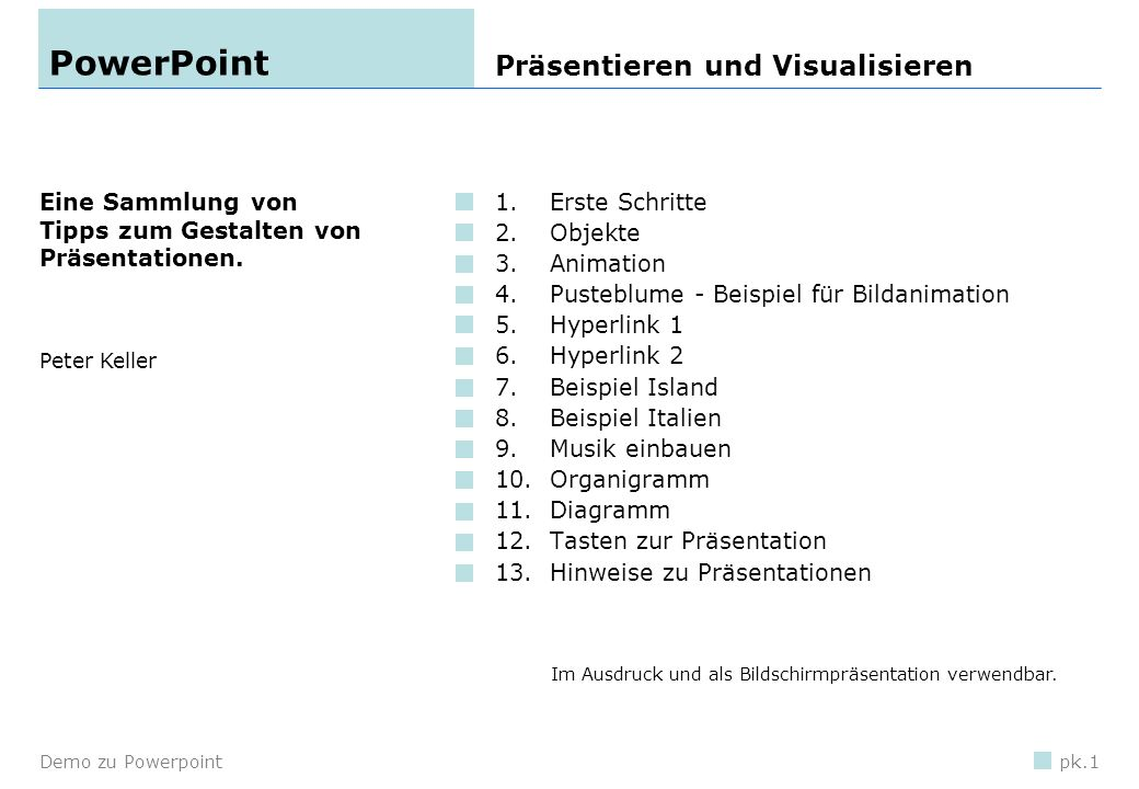PowerPoint Präsentieren und Visualisieren