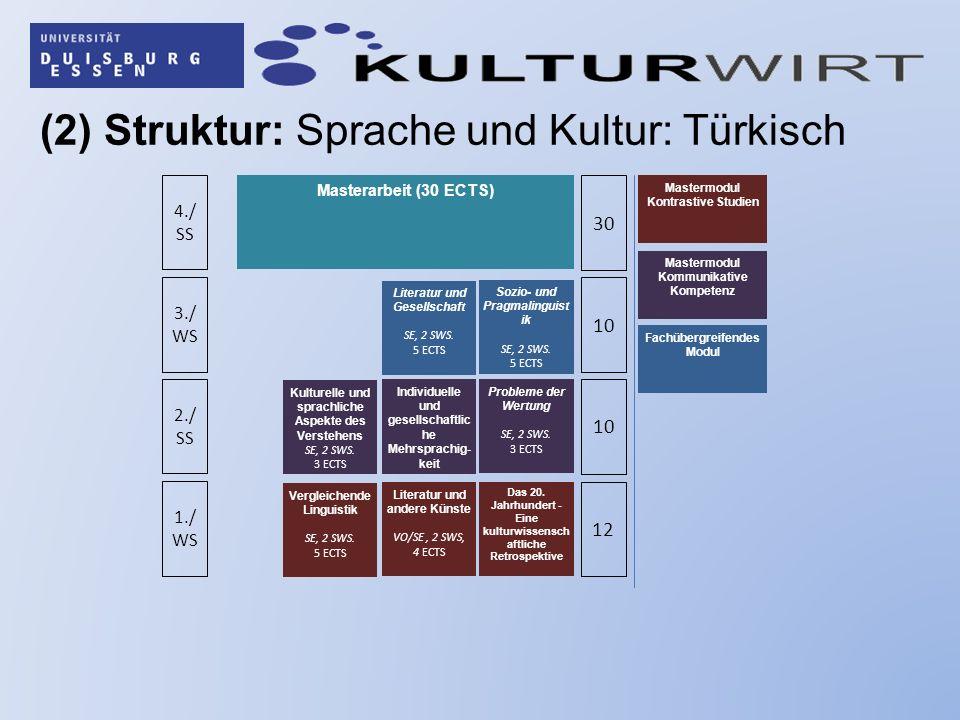 (2) Struktur: Sprache und Kultur: Türkisch