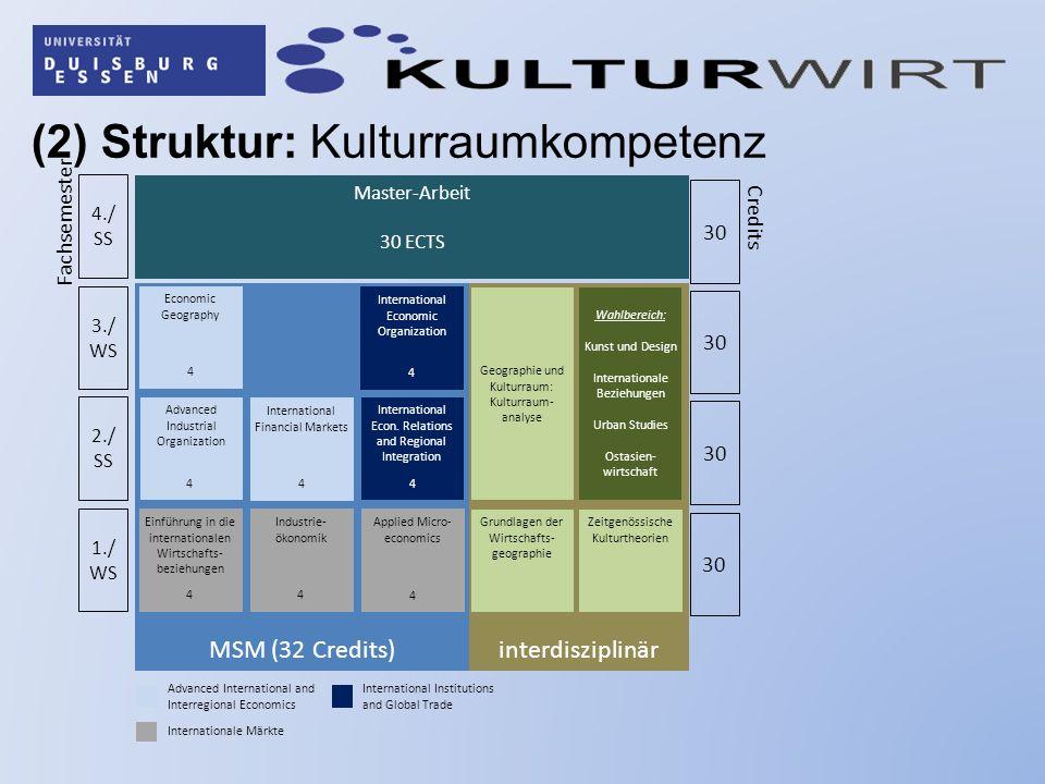 (2) Struktur: Kulturraumkompetenz