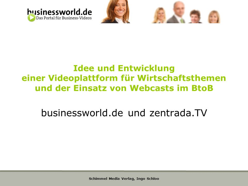 businessworld.de und zentrada.TV