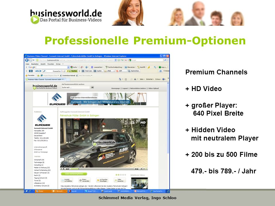 Professionelle Premium-Optionen