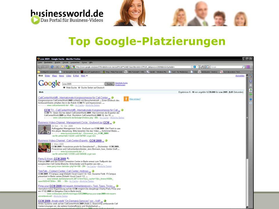 Top Google-Platzierungen