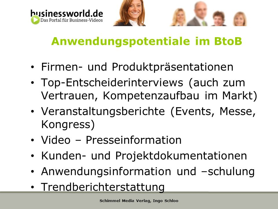 Anwendungspotentiale im BtoB