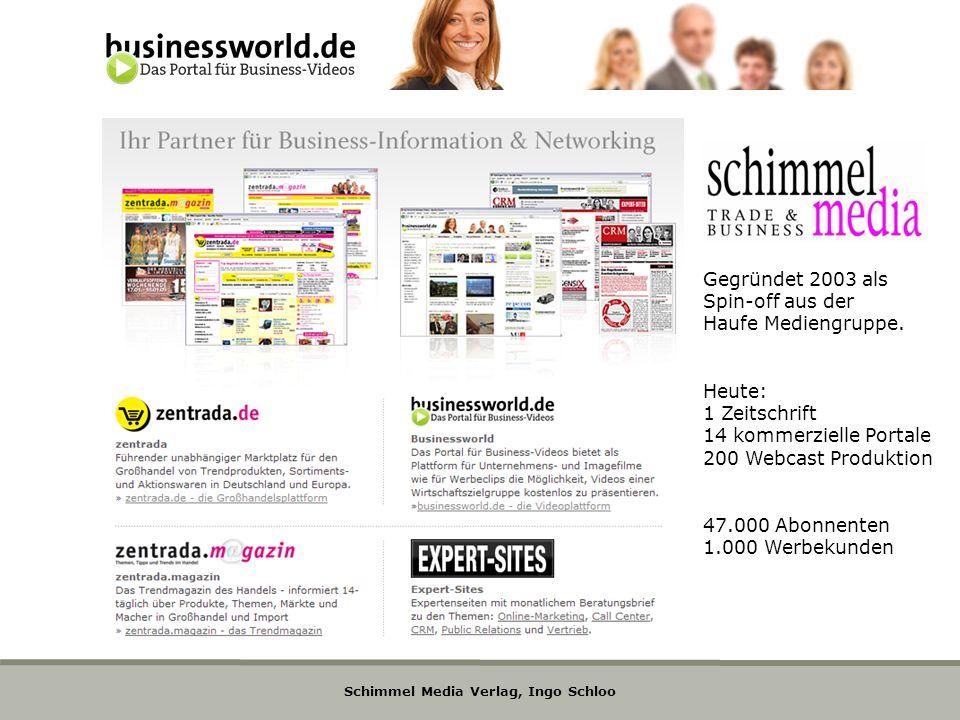 Gegründet 2003 als Spin-off aus der. Haufe Mediengruppe. Heute: 1 Zeitschrift. 14 kommerzielle Portale.