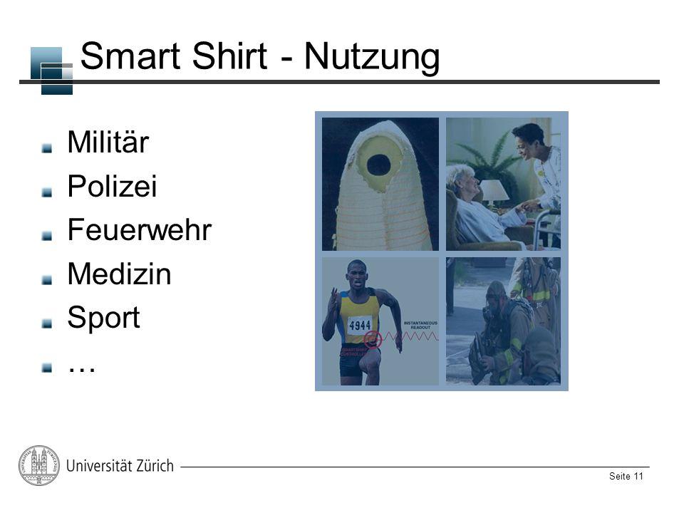 Smart Shirt - Nutzung Militär Polizei Feuerwehr Medizin Sport …