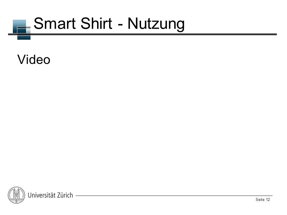 Smart Shirt - Nutzung Video