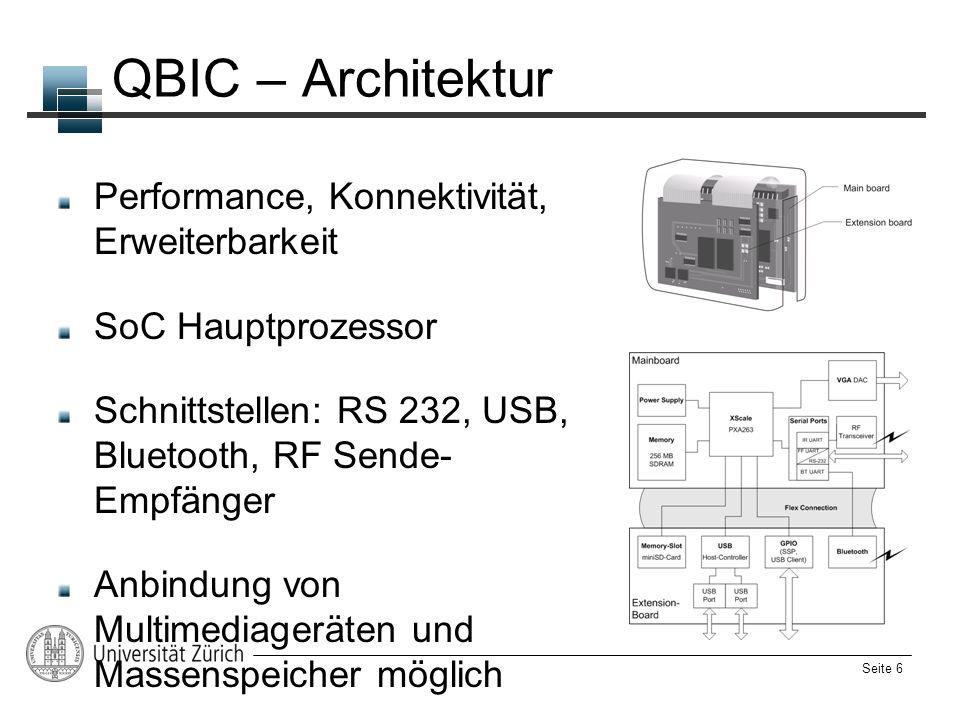 QBIC – Architektur Performance, Konnektivität, Erweiterbarkeit