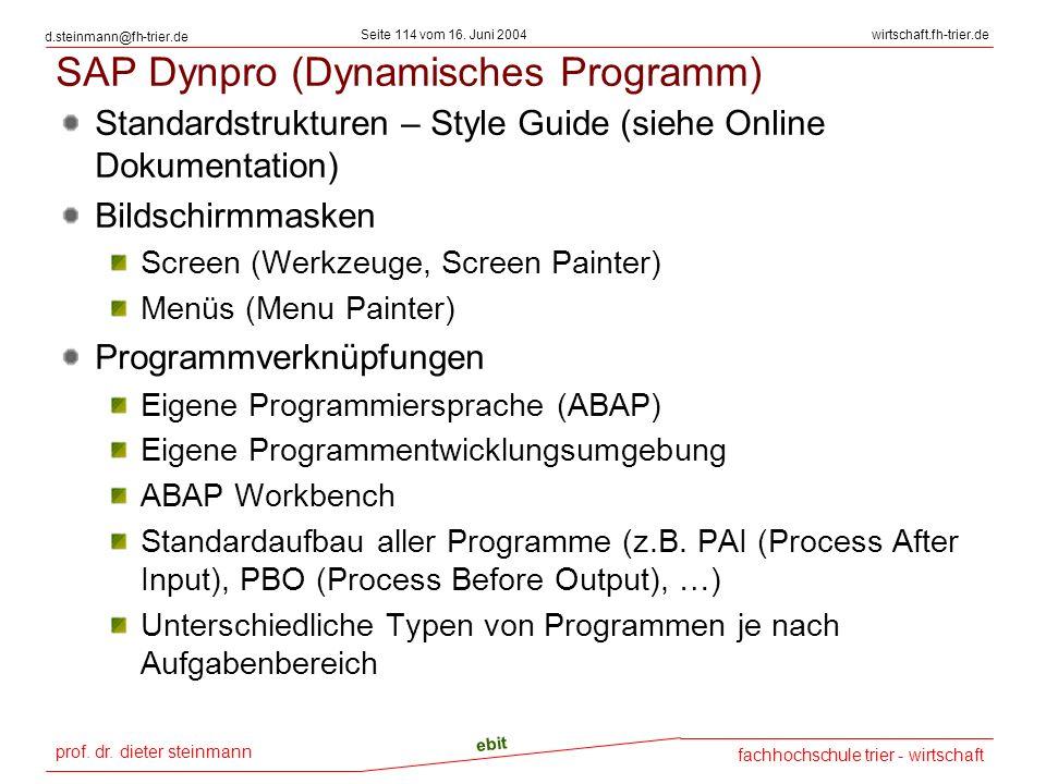 SAP Dynpro (Dynamisches Programm)