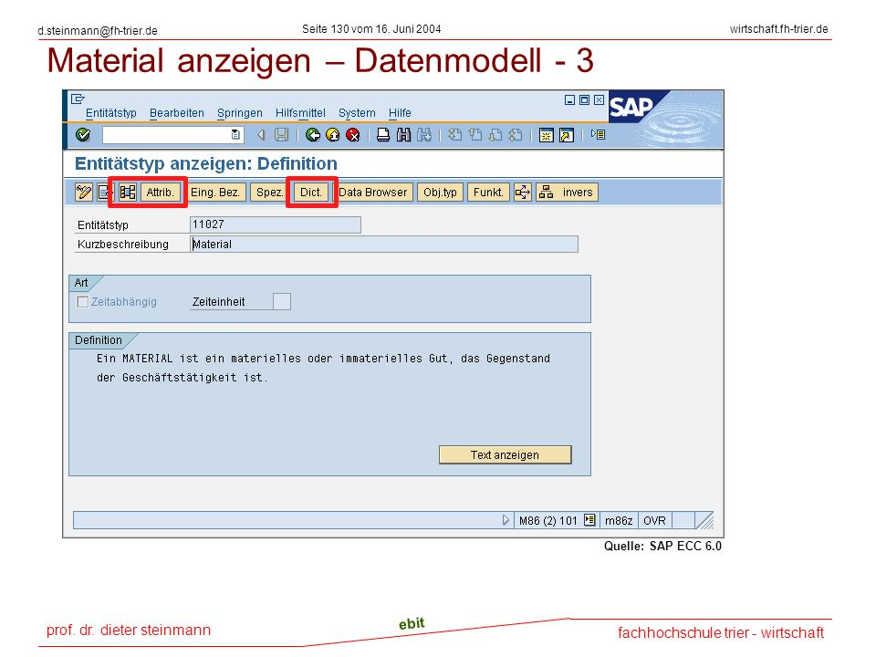 Material anzeigen – Datenmodell - 3